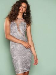 Ax Paris Dreamy Lace Dress Kropsnære kjoler Grey