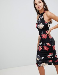 AX Paris Floral Halterneck Midi Dress - Multi