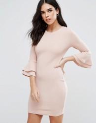 AX Paris Flute Sleeve Mini Dress - Pink