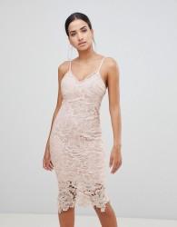 AX Paris Lace Cami Midi Dress - Pink