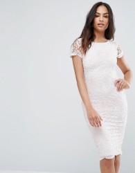Ax Paris Lace Insert Midi Dress - Multi