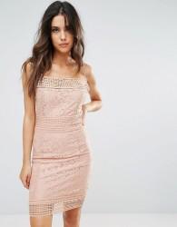 AX Paris Lace Midi Dress - Pink