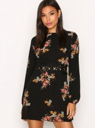 Ax Paris Long Sleeve Print Dress Loose fit dresses Black Print