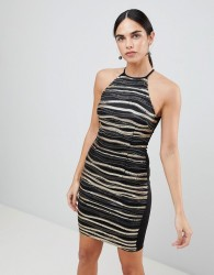 AX Paris Metallic Mini Dress - Multi
