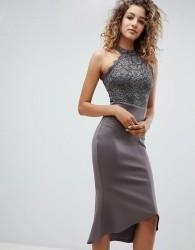 AX Paris Pephem Midi Dress - Grey