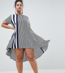 AX Paris Plus Vary Stripe Swing Dress - Multi
