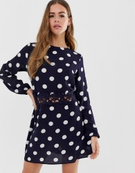 AX Paris spot print mini dress - Navy