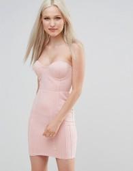 AX Paris Suedette Bandeau Dress - Pink