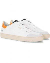 Axel Arigato Clean 90 Triple Sneaker White/Orange Leather men 41 Hvid