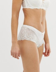 B By Ted Baker geo jacquard logo french knicker in ivory - White