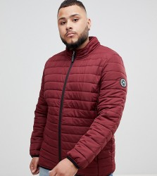 BadRhino Big Padded Quilted Jacket In Burgundy - Red