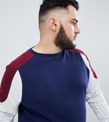 BadRhino Big Panel Sweatshirt In Cut & Sew - Navy