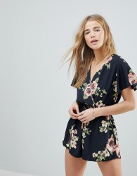 Band Of Gypsies Large Floral Playsuit - Multi
