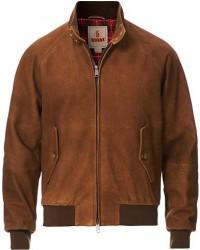 Baracuta G9 Padded Winter Suede Harrington Jacket Tobacco men UK44 - EU54 Brun