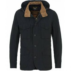 Barbour for Land Rover Fosse Cotton Hooded Jacket Navy
