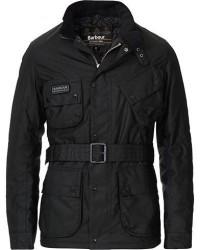 Barbour International Colouted Slim International Wax Jacket Black men S Sort
