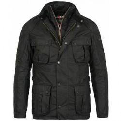 Barbour International Gauge Wax Jacket Black