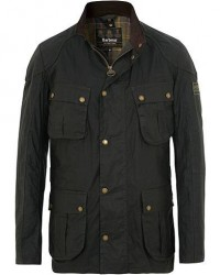 Barbour International Lightweight Lockseam Wax Jacket Sage men L