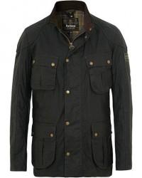 Barbour International Lightweight Lockseam Wax Jacket Sage men M