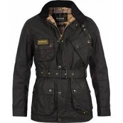 Barbour International Slim Wax Jacket Black