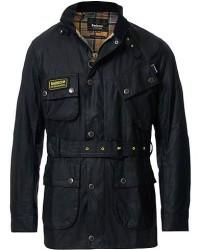Barbour International Slim Wax Jacket Black men M Sort