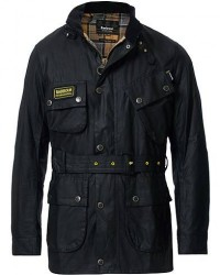 Barbour International Slim Wax Jacket Black men S Sort