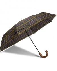 Barbour Lifestyle Classic Telescopic Umbrella Tartan men One size Grøn