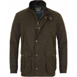 Barbour Lifestyle Leeward Wax Jacket Olive
