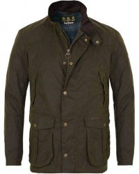 Barbour Lifestyle Leeward Wax Jacket Olive