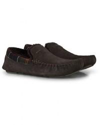 Barbour Lifestyle Monty Indoor Car Shoe Brown Suede men UK8 - EU42 Brun