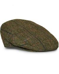 Barbour Lifestyle Moons Tweed Cap Olive Herringbone men 59 7 1/4 Grøn