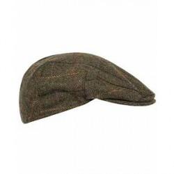 Barbour Lifestyle Moons Tweed Cap Olive Herringbone