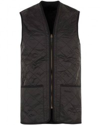 Barbour Lifestyle Quilt Waistcoat/Zip-In Liner Black men S/UK36 Sort