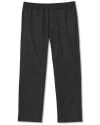 Barena Drawstring Pinstripe Flannel Trousers Dark Grey men 48 Grå