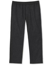 Barena Drawstring Pinstripe Flannel Trousers Dark Grey men 52 Grå