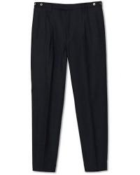 Barena Masco Pleated Wool Trousers Navy men 50 Blå