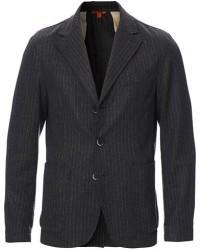 Barena Pinstripe Flannel Blazer Dark Grey men 54 Grå