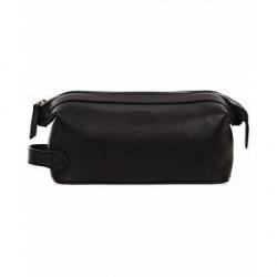 Baron Toilet Bag Black Leather