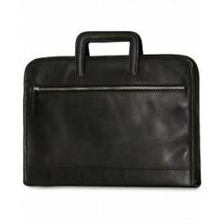 Baron Zip Case Black Leather