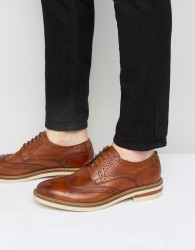 Base London Apsley Leather Oxford Brogue Shoes - Tan