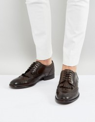 Base London Bartley Leather Brogue Tassel Shoes - Brown