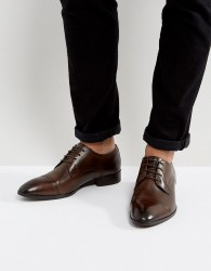 Base London Christie Leather Derby Shoes - Brown