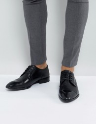 Base London Christie Leather Derby Shoes In Black - Black