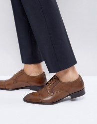 Base London Christie Leather Derby Shoes In Tan - Tan