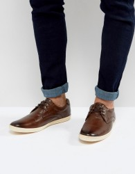 Base London Concert Leather Shoes - Brown