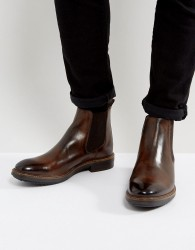 Base London Dalton Leather Chelsea Boots - Brown