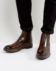 Base London Dalton Leather Chelsea Boots - Brown
