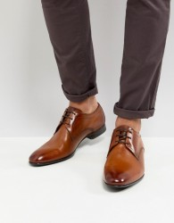 Base London Elgar Leather Derby Shoes in Tan - Tan