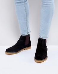 Base London Ferdinand Suede Chelsea Boots - Black