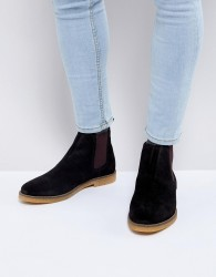 Base London Ferdinand Suede Chelsea Boots - Black